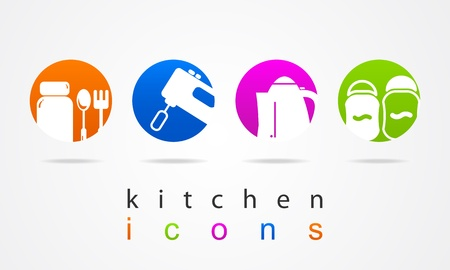Kitchen Collection icons Vector