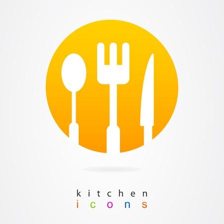 logos restaurantes: Cocina de dise�o conjunto de elementos