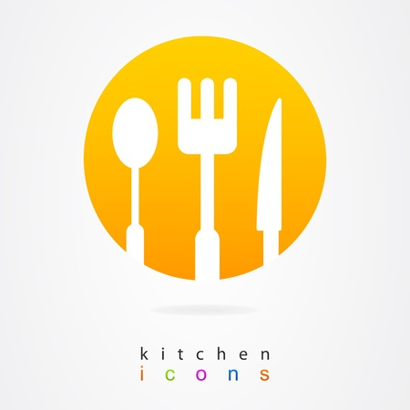 Kitchen design set of elements Vector
