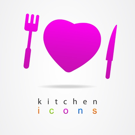 Kitchen icons sign Vector