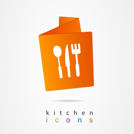 Kitchen menu design Vector