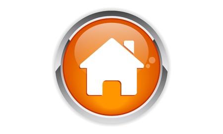 Metal button home Vector