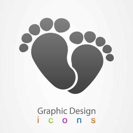 Naissance logo baby Illustration