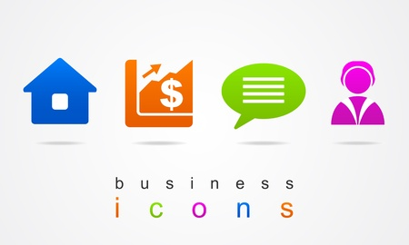 Business new icons Stock Vector - 20273992