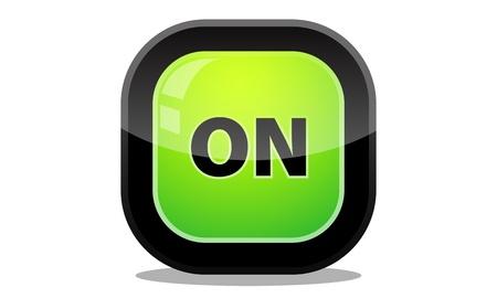 Button on icon Stock Vector - 20274058