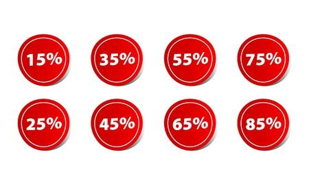 reduced value: Precio porcentaje de descuento Vectores