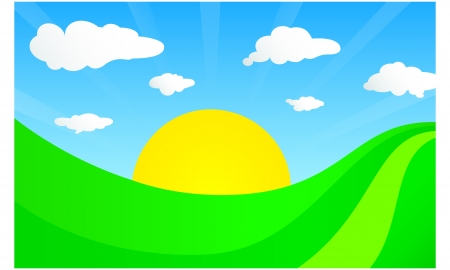 rural field Stock Vector - 20913005