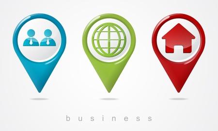 Set business pointers Illustration