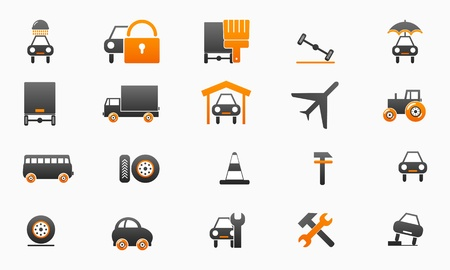 tire cover: collection car icons