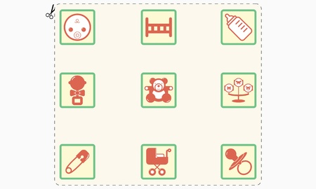Set of children s icons stylized mark Stock Vector - 20913059