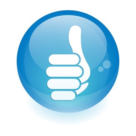 big toe: sphere finger up sign