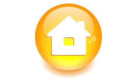 button sphere house  Vector