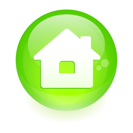 sphere house icon Vector