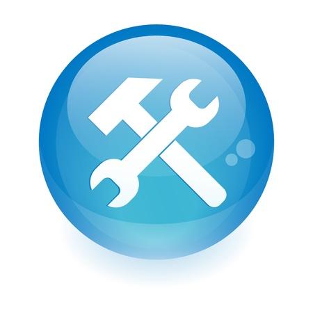 button sphere service tool icon Stock Vector - 21298383
