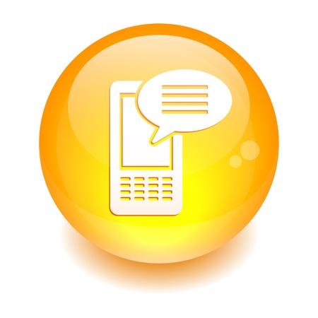 sphere sms telefoon icoon