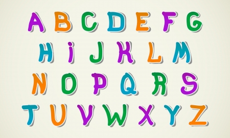 pasteboard: Stylish and colorful Children s Creative Alphabet
