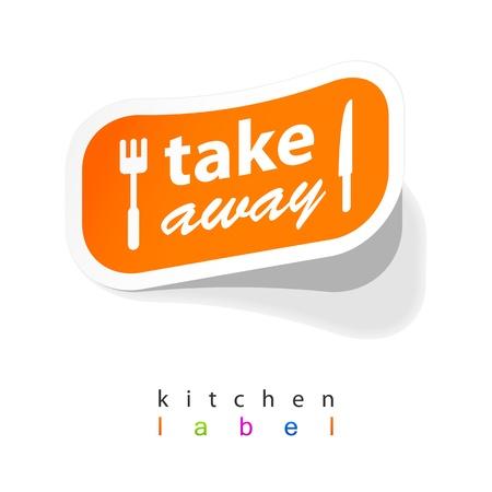 Takeaway labels sticker