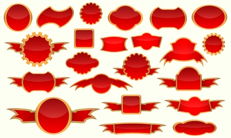 Various red gold label Vector