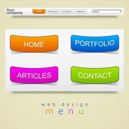 Web design graphics menu Vector