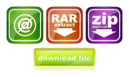 rar: zip rar file web icon