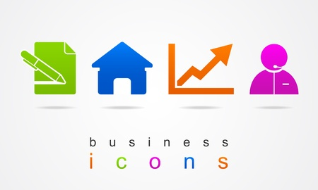 Work business icons Vector