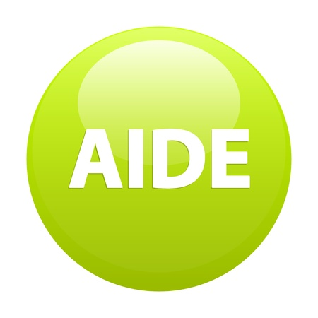 aide: bouton internet aide sign
