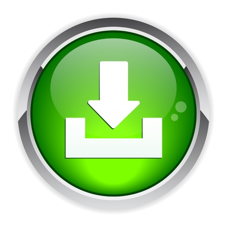 bouton internet arrow download icon Illustration