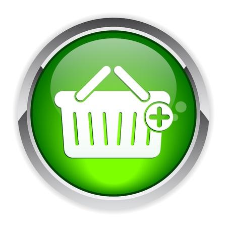 3 dimensions: bouton internet panier icon