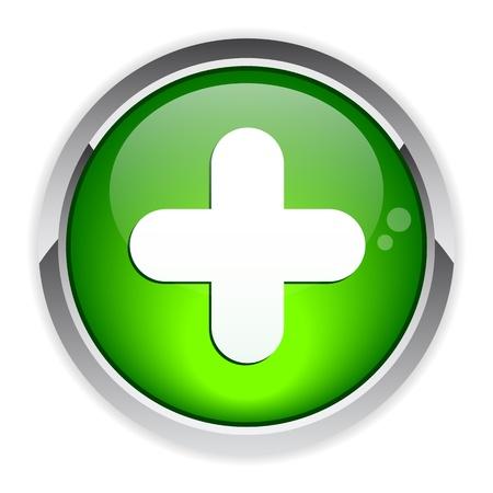 bouton internet plus icon Stock Vector - 21317184