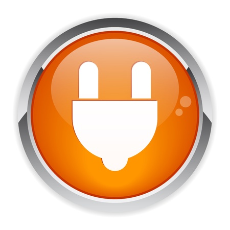 bouton internet prise electric power icon Illustration