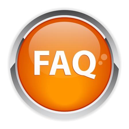 faq icon: bouton internet question FAQ icono