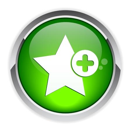 Bouton Web Favori icon Stock Vector - 21317220