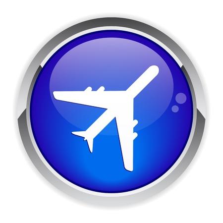 avion: bouton web internet avion
