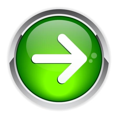 following: button arrow sign