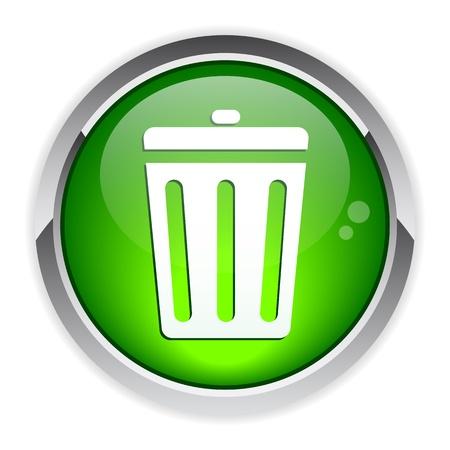 detritus: button garbage can