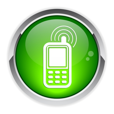 Button cell phone icon