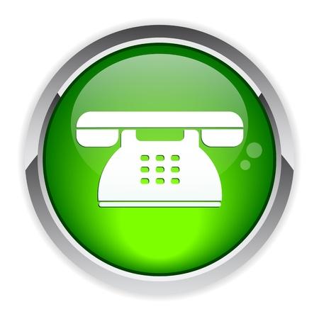 button internet phone symbol icon Vector