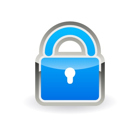 Button online security sign Illustration