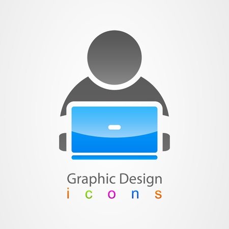 intentie: grafisch ontwerp pictogram gebruiker internet