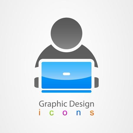 graphic design icon user internet
