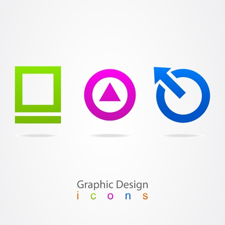 graphic design Internet icons Stock Vector - 21330360