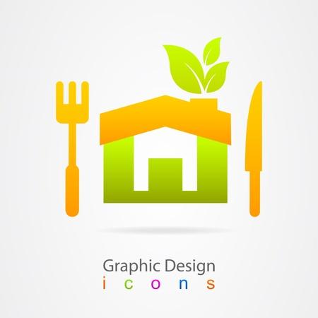 graphic design restaurant healthy food Illustration