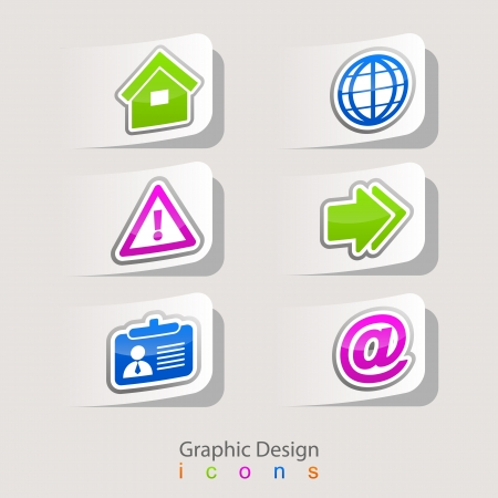 maintain: graphic design set of business icons