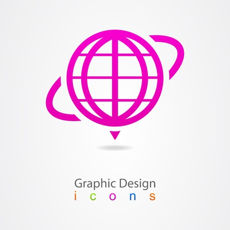 graphics design network icon Vector