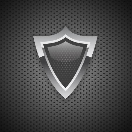icon bouclier internet security protection Carbon Vector