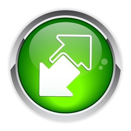 disconnect: Internet connection disconnect button arrow icon Illustration