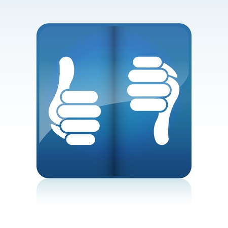 Like Thumb Up Down Buttons Vector