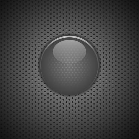 Metal button carbon blank Stock Vector - 21394907