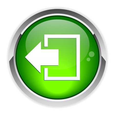 output disconnect button Internet icon