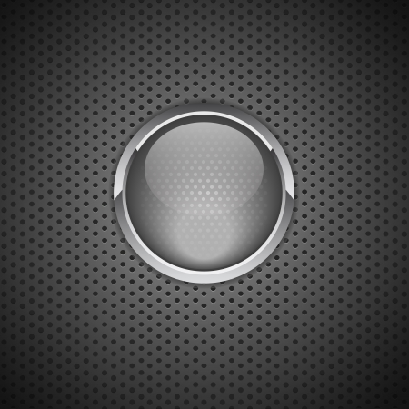 pc tune: Vector Button on Carbon Fiber Background